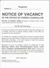 Vacancy for Councillor