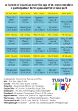 Turn up and Play Scheme August 2019 - Timetable